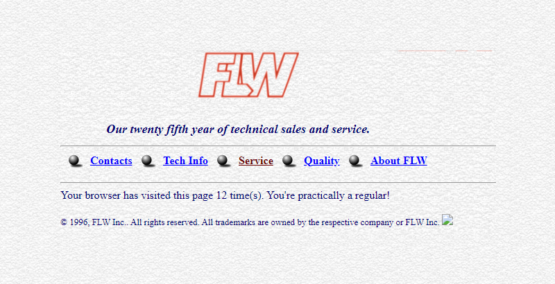FLW Website 1996